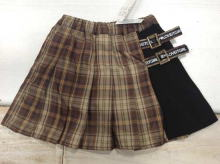 Plaid Polyester Skirt (with Inner pants)