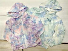 Unevenly dyed Polyester Short length Hooded Thin zip up