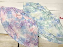 Unevenly dyed Polyester skirt (with Inner pants)