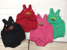 Monster Embroidery Twill Bodysuits (with tail)