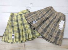 Plaid Pleated skirt (with Inner pants)