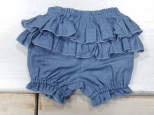 Ruffled Denim Buruma
